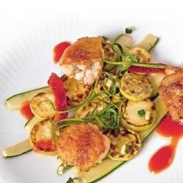 Cukkini háromféleképpen, sült csirkével