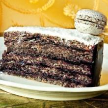 Áfonyás-mákos torta