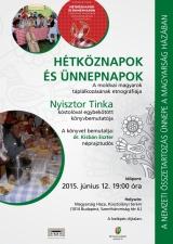 Nyisztor Tinka kóstolóval egybekötött könyvbemutatója